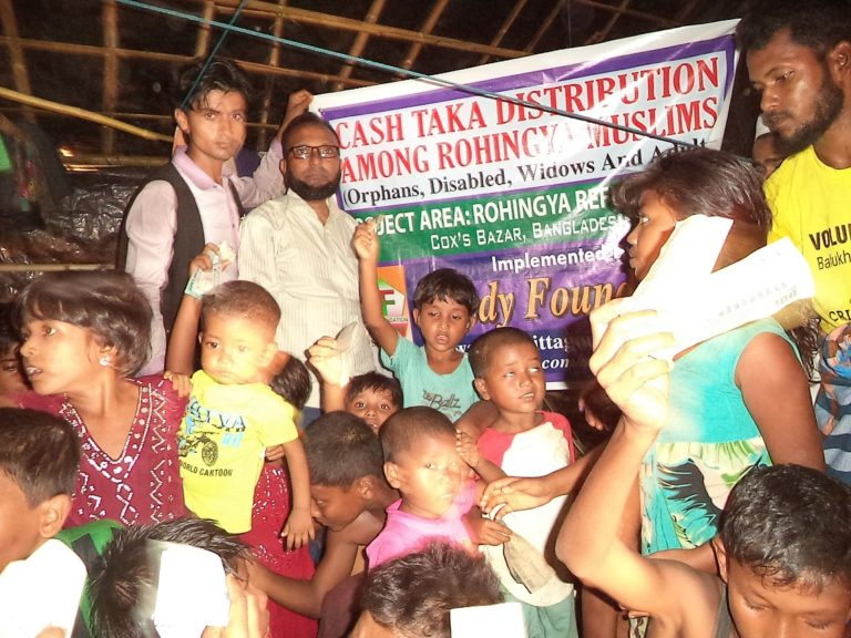 Cash Taka Distribution Program Among Rohingya